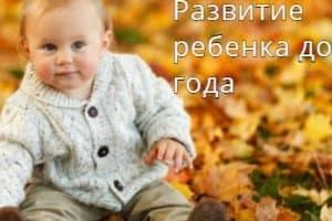 Развитие ребенка до 1 года в каждом месяце жизни