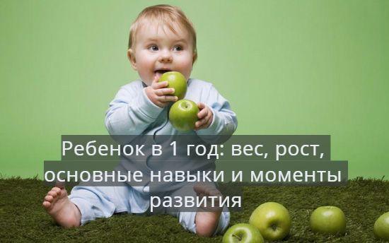 Что умеет ребенок в 1 год (12 месяцев)