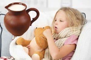 Рецепты молока от кашля для детей