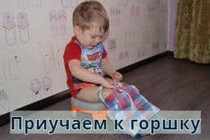 Когда и как приучать ребенка к горшку