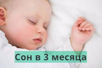 Режим дня трехмесячных детей