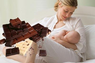 Шоколад при грудном кормлении
