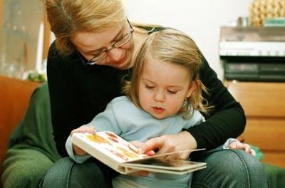 Чтение книг с трехлетним ребенком