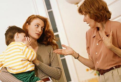 Отношение молодых родителей и внуков